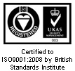 Quality Management System accreditation - BS EN ISO 9001:2008